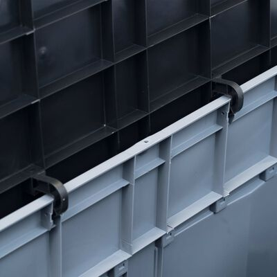 vidaXL Opbergkist 320 L grijs zwart