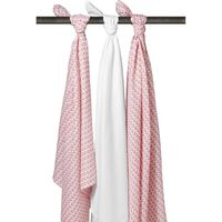 Meyco 3-pack Swaddle - Knitted Heart/Uni wit/Knitted Heart