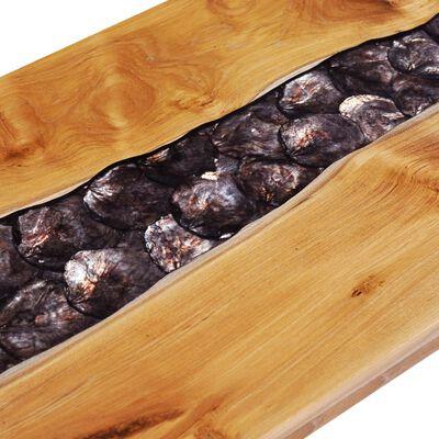 vidaXL Salontafel 100x50x40 cm massief teakhout en polyresin