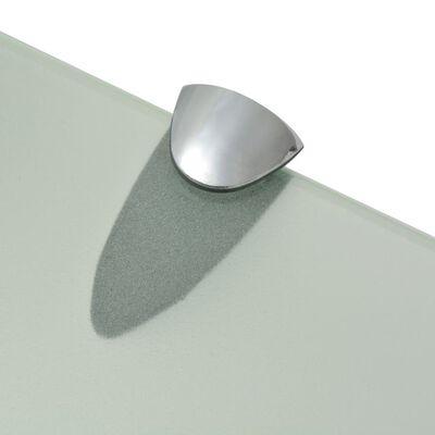 vidaXL Schappen zwevend 2 st 50x20 cm 8 mm glas