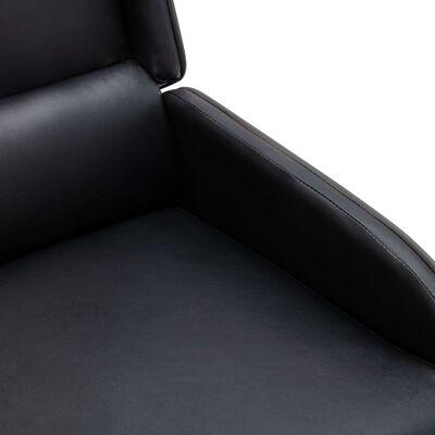 vidaXL Fauteuil verstelbaar kunstleer zwart en grijs