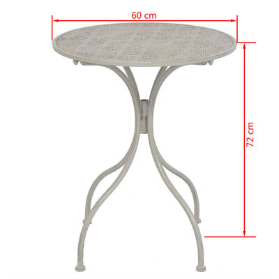 vidaXL 3-delige Bistroset staal grijs