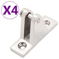 vidaXL Dekscharnieren voor biminitop 4 st roestvrij staal