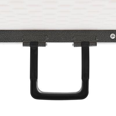 vidaXL Tuintafel inklapbaar 180x72x72 cm HDPE wit