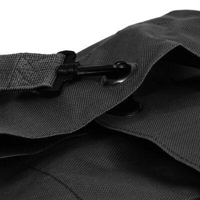 vidaXL Plunjezak legerstijl 85 L zwart