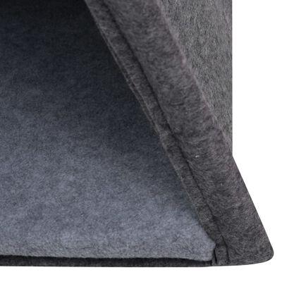 vidaXL Kattentipitent met tas 40x40x70 cm vilt zwart