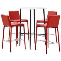 vidaXL 5-delige Barset kunstleer rood