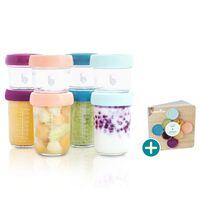 Babymoov Voedselopbergcontainers Babybols 8 st glas