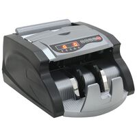 vidaXL Geldteller voor bankbiljetten zwart en grijs