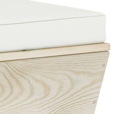 vidaXL 10-delige Loungeset met kussens pallet vurenhout