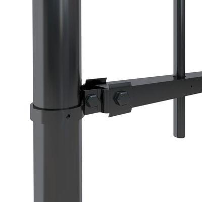 vidaXL Tuinhek met ronde bovenkant 11,9x1,5 m staal zwart