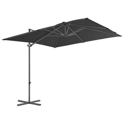 vidaXL Parasol met draagbare voet antraciet