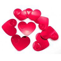40x mega confetti rode hartjes - Valentijn / Bruiloft confetti