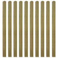 vidaXL 30 st Heklatten 140 cm geïmpregneerd hout