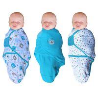 Bo Jungle Baby wikkeldeken Bear 3 st blauw