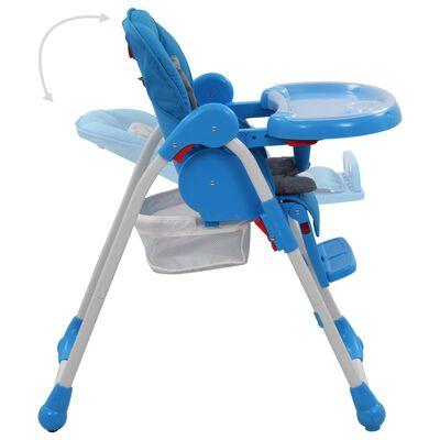 vidaXL Kinderstoel hoog blauw en grijs