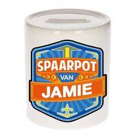 Kinder spaarpot voor Jamie - keramiek - naam spaarpotten