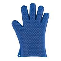 ovenwant 19 x 27 x 1 cm siliconen blauw