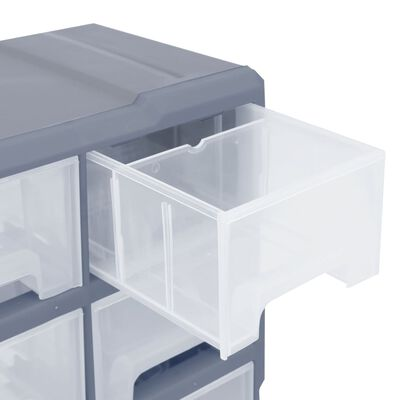 vidaXL Organiser met 16 medium lades 52x16x37 cm