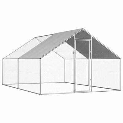 vidaXL Kippenhok 2,75x4x1,92 m gegalvaniseerd staal