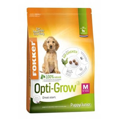 2,5 Kg Fokker Opti-grow Puppy / Junior Medium Hondenvoer