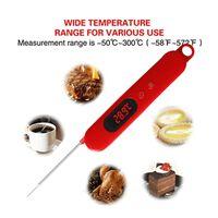 Digitale frituurthermometer - rood