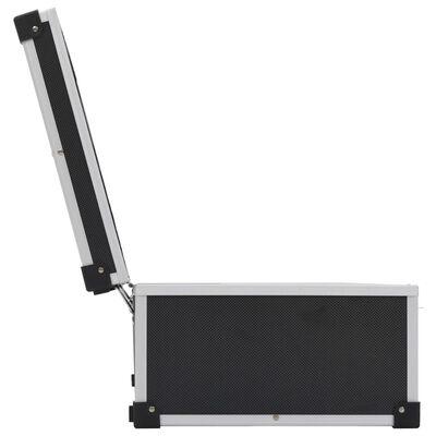 vidaXL Cd-koffer voor 80 cd's aluminium ABS zwart