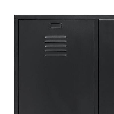 vidaXL Kledingkast industriële stijl 90x40x180 cm metaal zwart