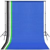 vidaXL Fotostudioset met 5 achtergronden en verstelbaar frame