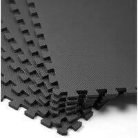 Monzana Vloerbeschermmatten (set van 6 stuks) in zwart