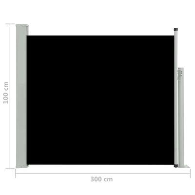 vidaXL Tuinscherm uittrekbaar 100x300 cm zwart
