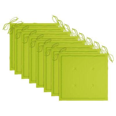 vidaXL Tuinstoelen 8 st inklapbaar met kussens massief teakhout