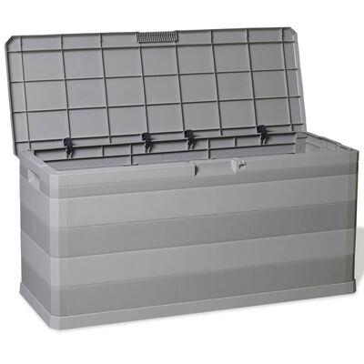 vidaXL Tuinbox 117x45x56 cm grijs