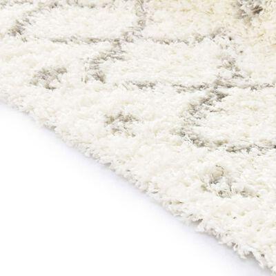 vidaXL Tapijt Berber shaggy hoogpolig 160x230 cm PP beige zandkleurig