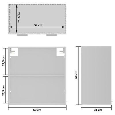 vidaXL Hangkast 60x31x60 cm spaanplaat wit