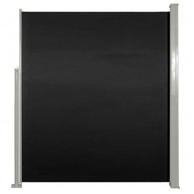 vidaXL Wind-/zonnescherm uittrekbaar 160x300 cm zwart