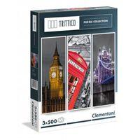 Clementoni legpuzzel Trittico Collection - Londen 3 x 500 stukjes
