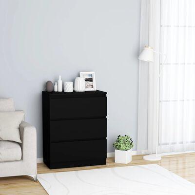 vidaXL Dressoir 60x33,5x76 cm spaanplaat zwart
