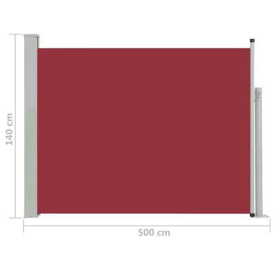 vidaXL Tuinscherm uittrekbaar 140x500 cm rood