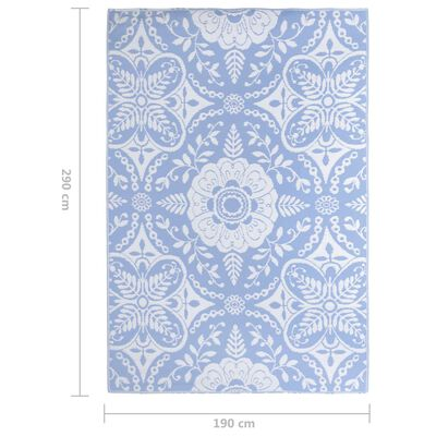 vidaXL Buitenkleed 190x290 cm PP babyblauw
