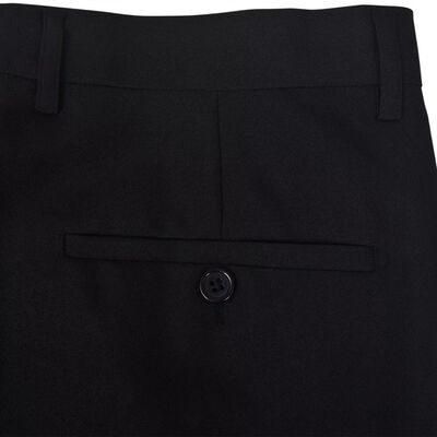 vidaXL Tweedelig kostuum voor mannen / smoking zwart maat 46