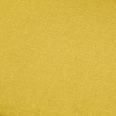 vidaXL Vijfzitsbank stof geel