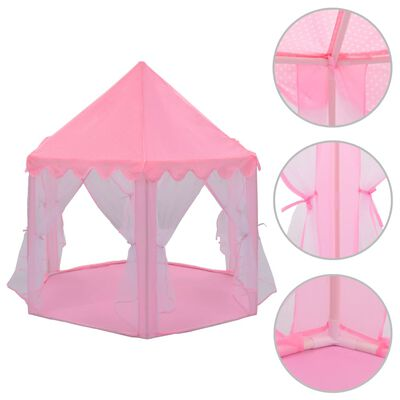 vidaXL Speeltent prinses roze