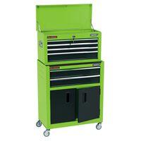 Draper Tools Rolkast met gereedschapskist 61,6x33x99,8 cm groen