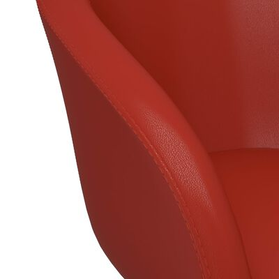 vidaXL Eetkamerstoelen 4 st kunstleer rood