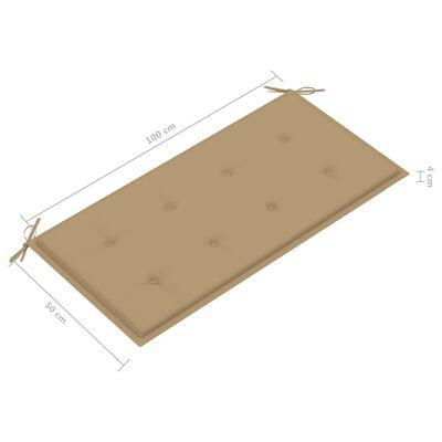 vidaXL Tuinbankkussen 100x50x4 cm beige