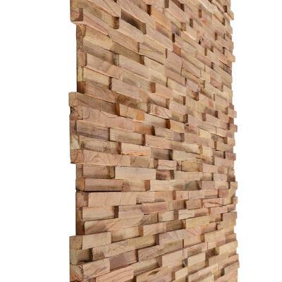 vidaXL 3D-wandbekleding panelen 1 m² massief teakhout 10 st