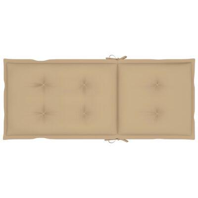vidaXL Tuinstoelen 4 st met beige kussens massief teakhout