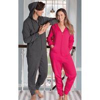 Warme onesie/jumpsuit lichtgrijs voor heren - huispakken volwassenen