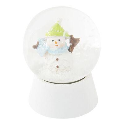 Sneeuwbol | Ø 5*6 cm | Wit | Polyresin / glas | rond | sneeuwpop |